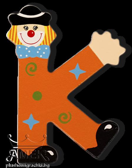 Декоративна дървена буква - К