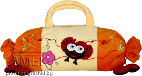 Hand bag with ladybug