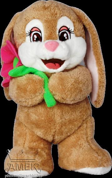 Заек с цвете