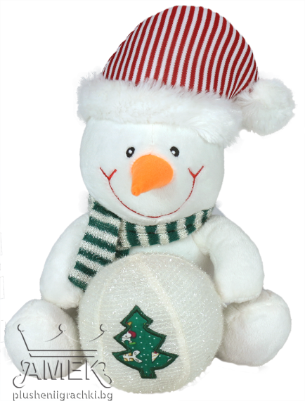 Снежен човек с топка