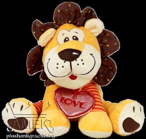 Лъв с медальон сърце| 25см