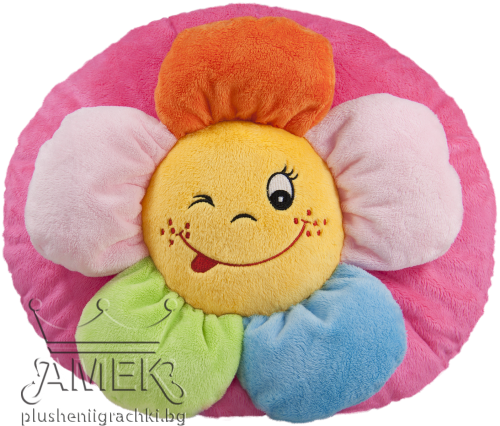 Кръгла възглавничка с цвете