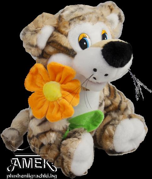 Тигър с цвете