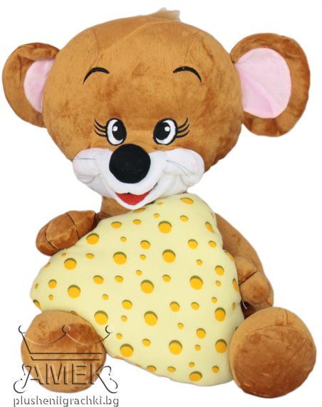 Mouse with cheese or a pillow