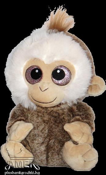 Маймунка с брокатени очи  3 цвята
