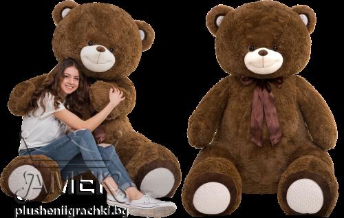 Огромен плюшен мечок с панделка