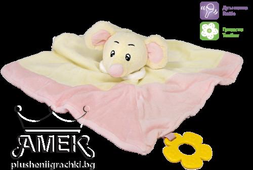 Мека бебешка играчка с мишле