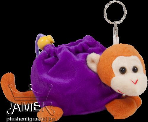 Плюшено портмоне-ключодържател с животинче