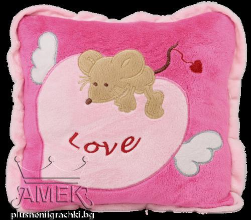 Възглавница с мишка| 2 цвята