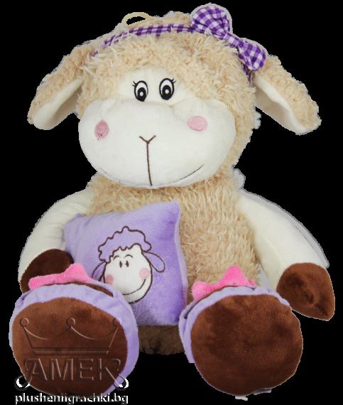 Овчица с възглавница  2 цвята