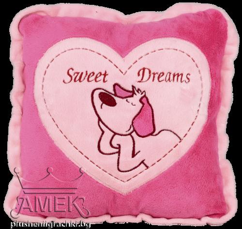 Възглавница с куче  2 цвята