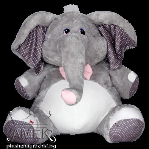Голям плюшен слон с панделка