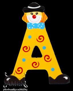 Декоративна дървена буква - А