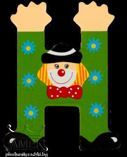 Декоративна дървена буква - Н