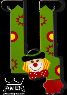 Декоративна дървена буква - Ц