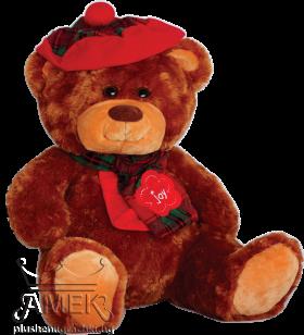 "Teddy bear with a hat and a scarf ""Joy"""
