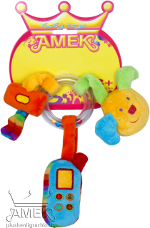 Baby rattle with three accessories