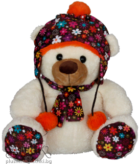 Teddy bear with colourful hat and paws