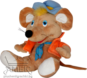 Mouse with a jacket and a hat