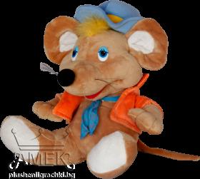 Мишка с яке и шапка