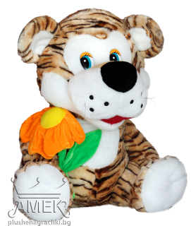 Tiger with flower