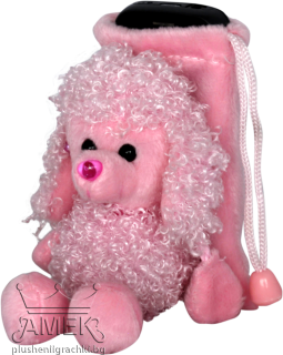 Розова торбичка с пудел