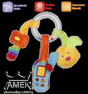 Бебешка дрънкалка с три аксесоара