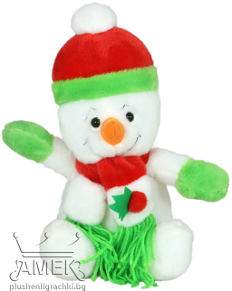 Snow man with hat and scarf