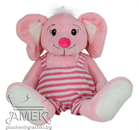 Pink mouse with jumpsuit