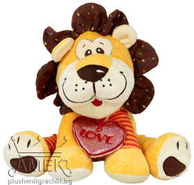 Lion with heart pendant
