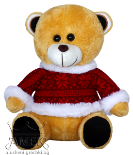 Teddy bear with Christmas sweather