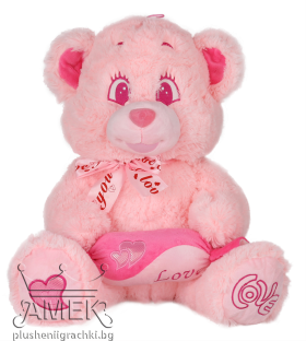 Pink bear with candy