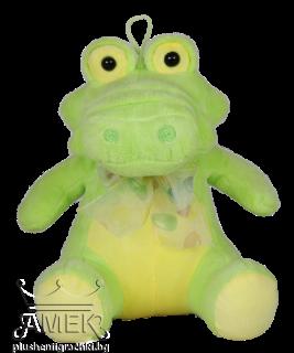 Зелено крокодилче с панделка