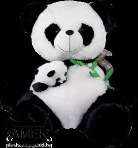 Панда с бебе