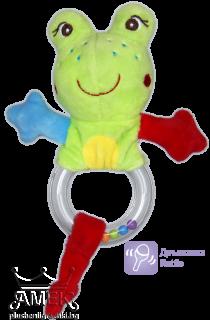 Frog - baby rattle
