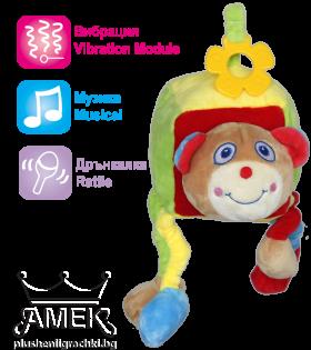 Бебешко кубче с дрънкалка и звук