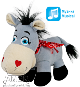 Grey donkey with a bandana