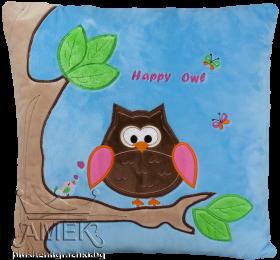 """Плюшена възглавничка с бухалче """"Happy Owl"""""""