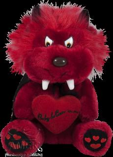 Червен дявол със сърце