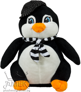 Пингвин с шал и шапка