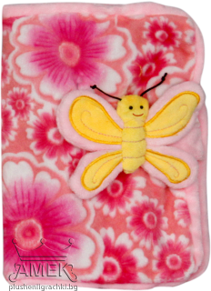 Notebook case with butterfly