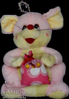 Мишка с торбичка| 3 цвята