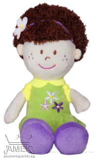 Plush doll with tiara