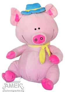 Piglet with hat and scarf