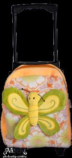 Раница на колелца с пеперуда
