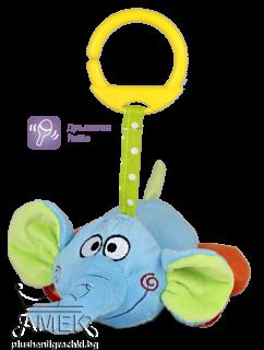Бебешко слонче с дрънкалка| 2 цвята