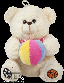 Мече с цветна топка| 2 цвята