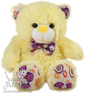 Teddy bear with colourful paws and a bow-tie| 4 colours