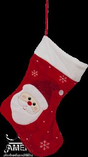 Плюшено коледно чорапче