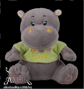 Хипопотам с тениска| 3 цвята